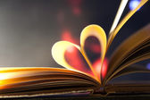 Book heart. — Stock Photo