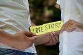 Love story. — Stock fotografie