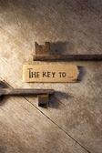 The key to — Foto de Stock