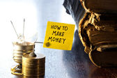 How to Make Money — Stock Photo