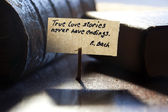 True love stories never have endings — Stock Photo
