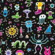 Royalty-Free Stock Vector Image: Monsters Seamless Pattern