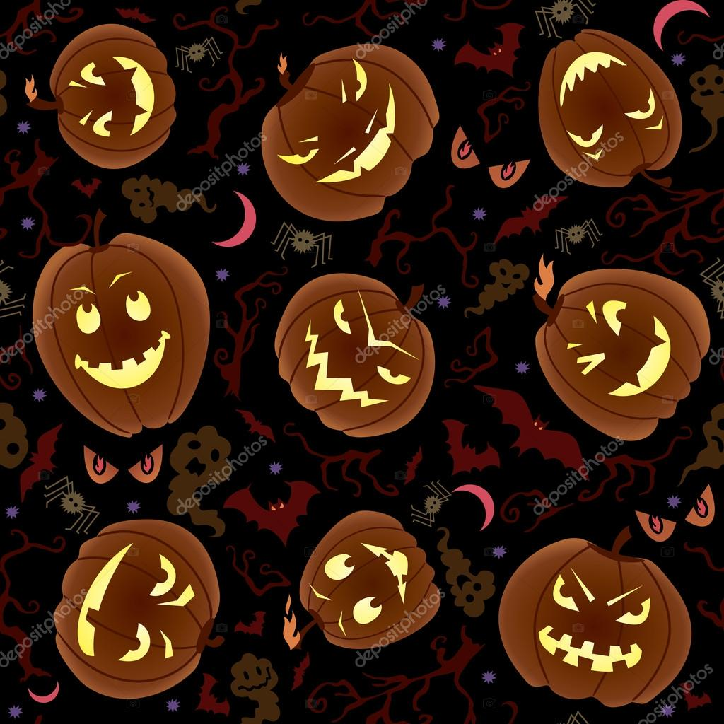 Vector seamless pattern on Halloween theme.  Imagen vectorial #12698561