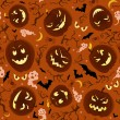 Royalty-Free Stock ベクターイメージ: Scary Pumpkins Seamless Pattern