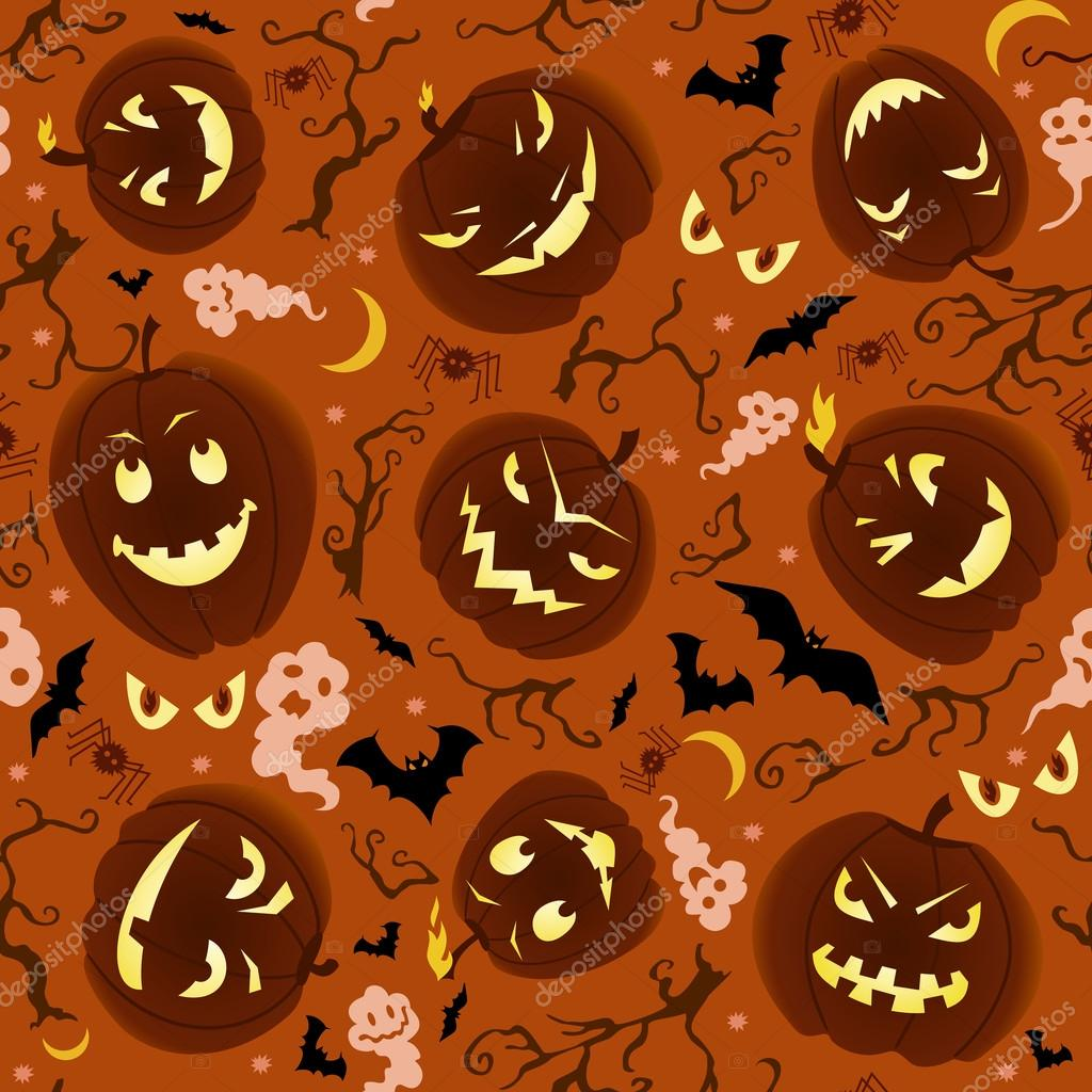 Vector seamless pattern on Halloween theme. — Imagen vectorial #12816531