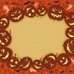 Happy Halloween Frame — Stock Vector