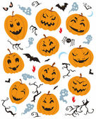 Halloween Characters Set — Stock Vector