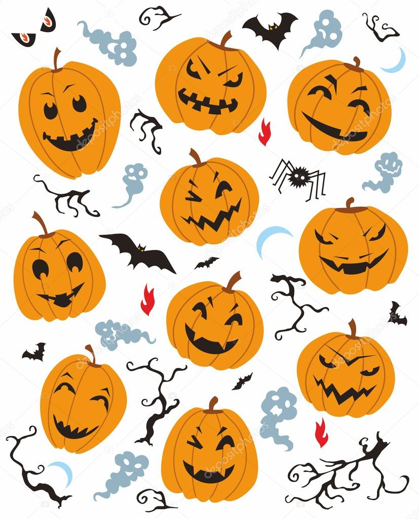 Vector illustration with Halloween characters on white background. — Stock Vector #13275993