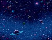 Horizontal Cosmic Background — Stock Vector