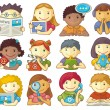 Set Of Cute Characters For Web Menu - Stockvektor