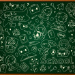 Stock Vector: Vector Background With School Blackboard