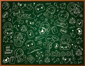 Vector Background With School Blackboard — Stock Vector