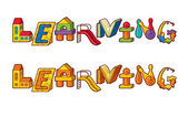 Word Learning. Letters Made Of Toys — Stockvector