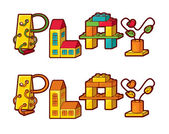 Word Play. Letters Made Of Toys — Vecteur
