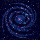 космический фон с галактика — Cтоковый вектор