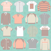 Seamless pattern with clothing for men — Stock Vector