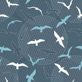 Seamless pattern with seagulls — Stock Vector