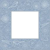 Frame with seashells — Stock Vector
