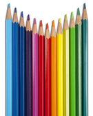 Regenboog potloden — Stock Photo