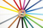 Potloden in een vorm van een cirkel — Stock Photo