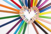 Potloden in een vorm van een hart — Stock Photo