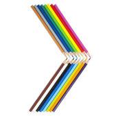 Potloden in een vorm van een pijl — Stock Photo