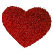 Red grass heart. — Stock Photo