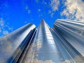 Skyscrapers cloudscape background. — Stock Photo