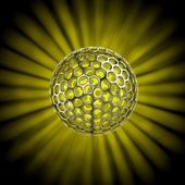 Hollow ball isolated with glow rays — Stock Photo