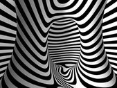 Black and White Stripes Projection on Torus. — Foto Stock