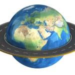 Globe and roads around it. — Stock Photo #45316033