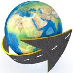 Globe and roads around it. — Stock Photo #45318167