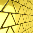 Golden triangles background — Stock Photo #45321667