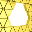 Golden triangles background — Stock Photo #45321829
