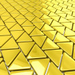 Golden triangles background — Stock Photo #45327239