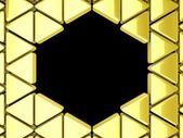 Golden triangles background — Stock Photo