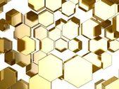 Fondo de nido de abeja de oro — Foto de Stock