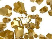 Gold honeycomb pattern background — Stock Photo