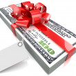 Dollars gift pack — Stock Photo #45332445