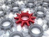 Gears. Work concept. — Stock Photo