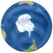 Стеклянный земной шар. — Стоковое фото