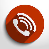 Vector phone handset icon background. — Stock Vector