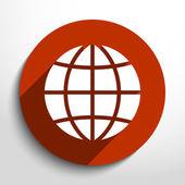 Vector globe icon — Stock Vector