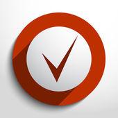 Vector check web icon — Stock Vector