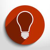 Vector Light bulb icon — Stock Vector