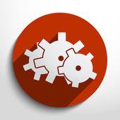 Vector icon of gears — Stock Vector