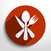 Vector disware and cutlery web icon — Stok Vektör