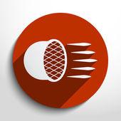 Car headlight flat icon. — Stock Vector