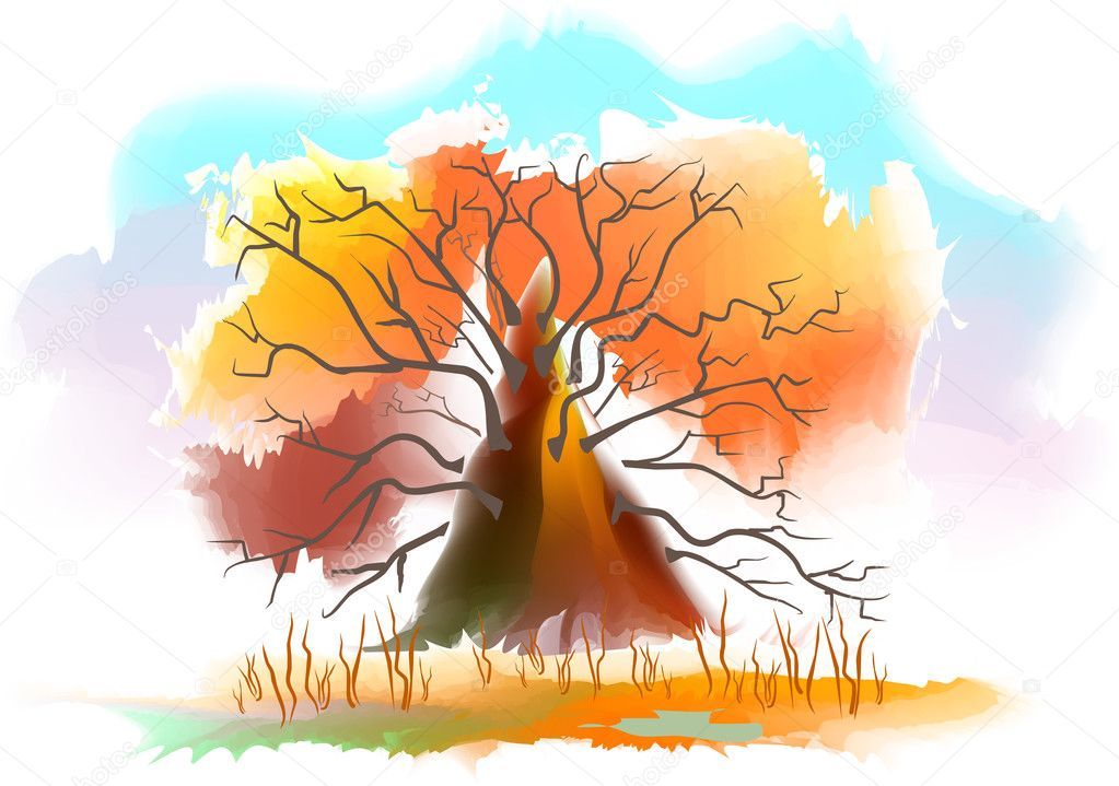 Autumn tree  Stock Vector #14964391