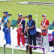 Double Trap Shooting Finalists - Stock Photo
